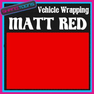 1M X 1520mm VEHICLE CAR VAN WRAP MATT RED FINISH CAR STYLING GRAPHICS